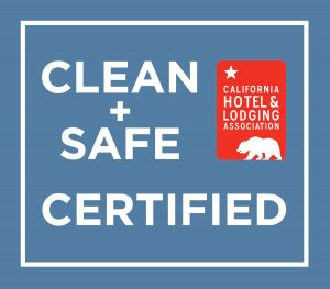 clean and safe badge for california hotels