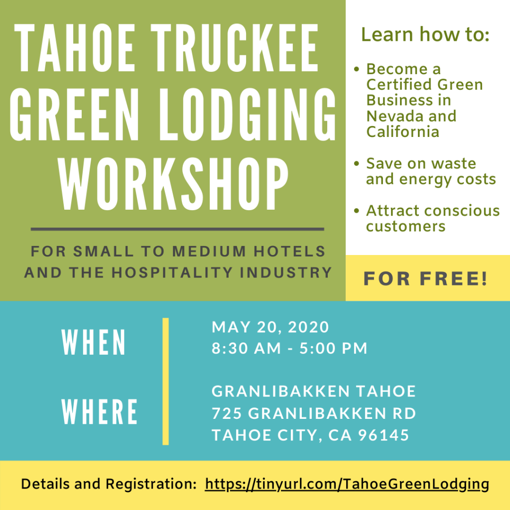 Tahoe Truckee Green Lodging Workshop