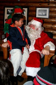 Our annual Torchlight Parade is followed by gifts and snacks with Santa.