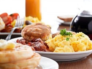 Free breakfast comes with all reservations at Granlibakken Tahoe.