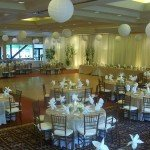 ballroom set up