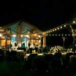 evening wedding celebration outdoors